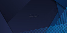 Abstract Blue Background Geometric Dark Blue Background Texture With Overlap Layers. Abstract Polygonal Pattern Luxury Dark Blue Background