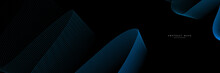 Futuristic Technology Style Background. Beautiful Wave Shape Array Of Glowing Dots. Wave Abstract Particle Flow  On Black Background