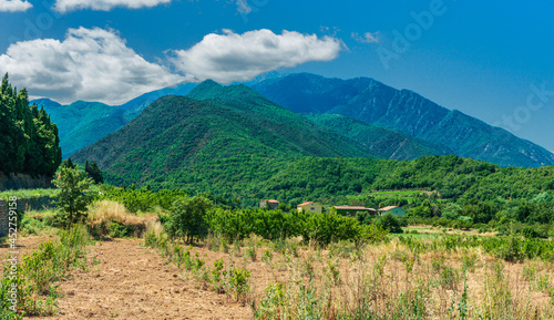 The little village of Joch in the foothills of the Pyrenees in the South of France