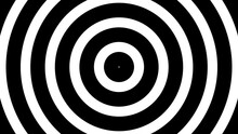 Abstract Animated Black And White Spiral Motion Background, Seamless Loop. Hypnotising Whirlpool Effect, Optical Illusion Illustration.