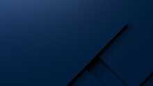 Overlapping Dark Blue Paper Planes Layer. Abstract Background. 3D High Quality Rendering. 3D Illustration. 3D CG.