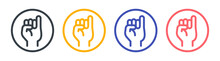 Pinky Finger Icon Sign. Gesturing Concept.