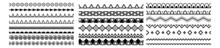 Ornamental Border Frame Patterns Page Decoration Vector. Decorative Seamless Borders Vintage Design Elements Set. Border, Frame, Element, Elegance, Elegant, Filigree, Flourish, Graphic, Greeting.