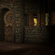 3d Illustration Of An Fantasy Background With A Mystical Atmosphere