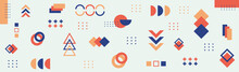 Abstract Background With Different Geometric Shapes - Illustration