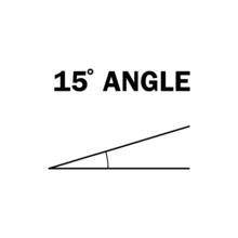 15 Degree Angle. Geometric Mathematical Angle With Arrow Vector Icon Isolated On White Background. Educational Learning Materials.