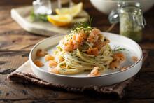 Shrimp Pasta With Dill Sauce