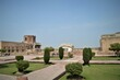 LAHORE FORT, PAKISTAN - MARCH 06, 2018: the charbagh view inside the fortress of Lahore, building, structure