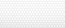 White Light Hexagonal Abstract Background, Tiling, Pattern. 3d