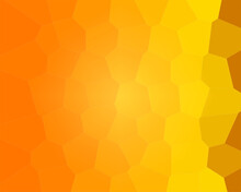Yellow Orange Background With Hexagonal Honeycomb Bee Close-up Illustration