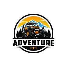 Off Road Adventure Atv Utv Buggy Logo Design