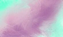 Green, Violet And Pink Watercolor Art Paint Abstract Background. Beautiful Colours And Brush Painting.