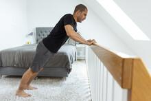 Man Doing Morning Exercise After Awakening