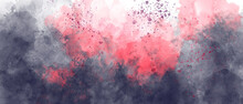 Black Fire Red Sky Gradient Watercolor Background With Clouds Texture