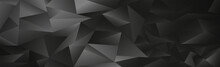 Abstract Black And Gray Gradient Triangles Of Different Sizes - Vector
