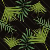 Fototapeta Natura - tropical leafs pattern