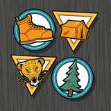 Fototapeta Natura - patches four icons