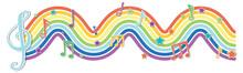Rainbow Wave With Melody Symbols