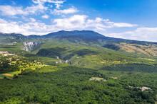An Aerial View Of Ucka Mountain, Istria, Croatia