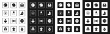 Set Astronomical Observatory, Satellite, Solar System, Planet Mars, Dish, Asteroid, And Rocket Ship Icon. Vector