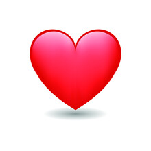 Heart Love Emoji Icon Object Symbol Gradient Vector Art Design Cartoon Isolated Background. Red Heart Emoji Vector Symbol Of Love. Heart Emoji. Heart Sticker. Love Symbol Valentine's Day.