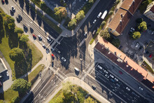 Aerial View Of Crossroad
