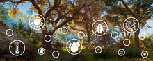 Graphic Resources For Sustainable Development, Biodiversity, A Growing Economy And Technology