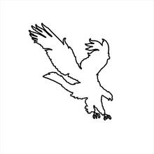 Vector Design Sketch Of An Eagle Ready To Pounce