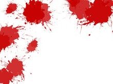 Illustration Background Or Wallpaper With Red Patches Of Paint As Splashes With Copy Space