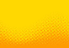Abstract Yellow And Orange Halftone Dotted Background.