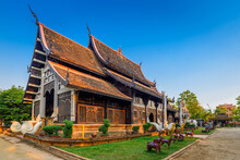 Old Wooden Temple Of Wat Lok Molee,  Chiang Mai,  Thailand