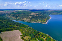 Aerial View Of The Dniester River