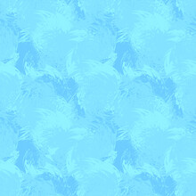 Blue Frost Ice Abstract Pattern Expressionism Digital Illustration. Vector Design Seamless Modern Texture.