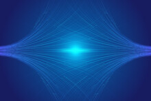 Blue Luminous Lines Crisscross To Form A Technological Background