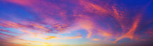 The Colorful Clouds In The Sky At Dusk