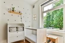 Stylish Interior Of Light Nursery