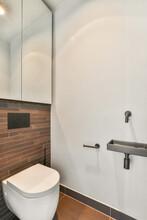 Toilet Bowl In Modern Restroom