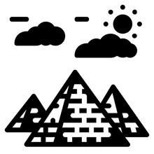 Pyramids Glyph Icon