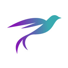 Bird Logo With Gradient, Contemporary Animal Logo For Business