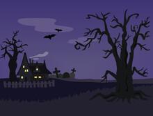 ハロウィーンをイメージした怪しい風景