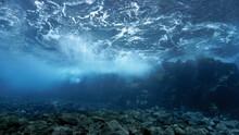 Underwater Rays Of Sunlight