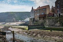 Staithes Picturesque Coastal Village, Yorkshire, England.