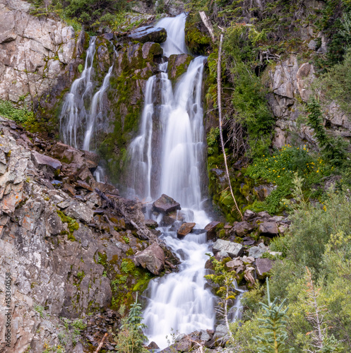 Waterfall Along Castle Creek Road in Aspen, Colorado