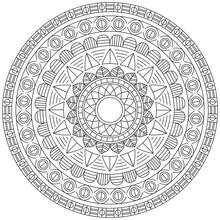 Leaf Flower Petal Coloring Mandala Art Simple Graphic Shape Vector Floral Oriental Outline Vintage Decorative Elements Pattern Illustration Islam Arabic Indian Turkish Mystic Religion Morals Lotus