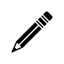 Black Solid Icon For Pencil