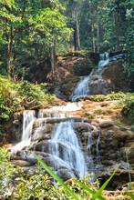 View Of Wachiratharn Waterfall, Doi Inthanon, Chom Thong District, Chiang Mai Province.