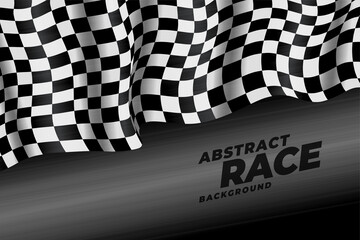 realistic checkered racing flag speed background