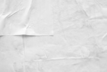 White Crumpled And Creased Paper Poster Texture Background