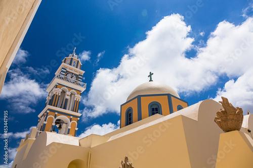 Fotografie, Obraz ギリシャ サントリーニ島のフィラにあるバプテスト聖ヨハネ大聖堂 St. John the Baptist Cathedral