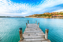 Fabulous View Of Porto Cervo From Wooden Pier